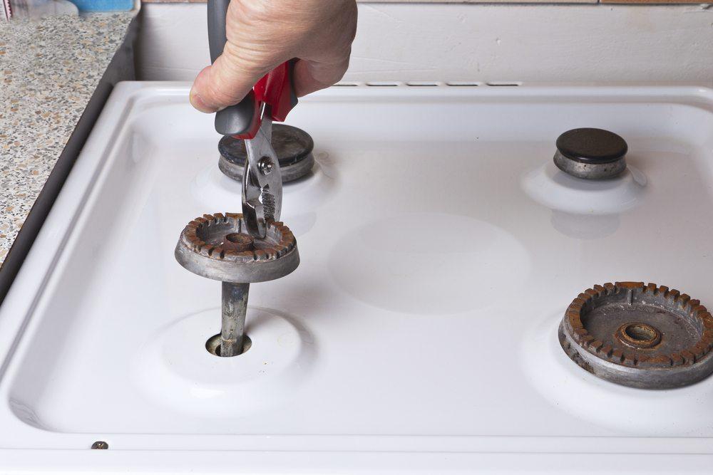 Réparation de cuisinière à gaz